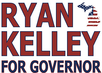 Ryan D. Kelley for Governor of Michigan Logo