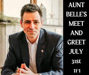 Meet Gubernatorial candidate Ryan Kelley at Aunt Belles Kitchen