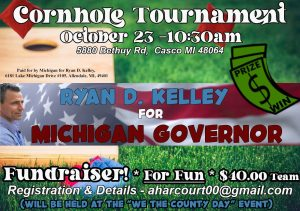 """Join Ryan at the St. Clair """"We The County"""" Cornhole Tourament!"""